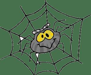 araña animada