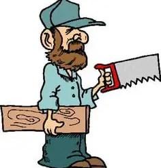 carpintero animado