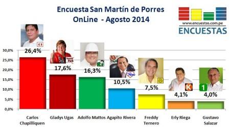 Encuesta San Martín de Porres Agosto 2014