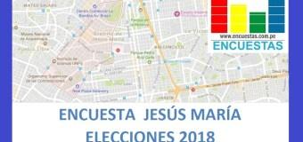 Elecciones 2018 │Encuesta Alcaldía de Jesús María – Setiembre 2017