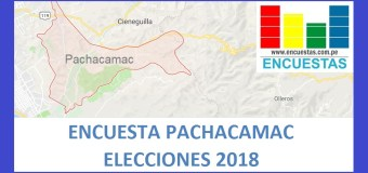 Encuesta Alcaldía de Pachacamac – Setiembre 2018