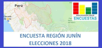 Encuesta Región Junín – Agosto 2018