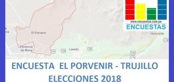 Encuesta Alcaldía de El Porvenir, Trujillo – Setiembre 2018