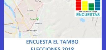 Encuesta Alcaldía de El Tambo, Huancayo –Setiembre 2018