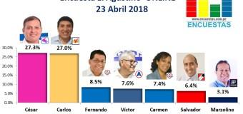 Encuesta El Agustino, Online – 23 Abril 2018
