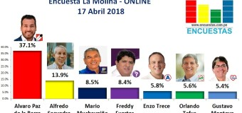 Encuesta La Molina, Online – 17 Abril de 2018