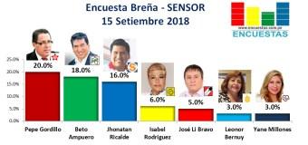 Encuesta Breña, SENSOR – 15 Setiembre 2018