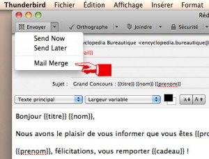 Envoyer un emailing avec mailmerge