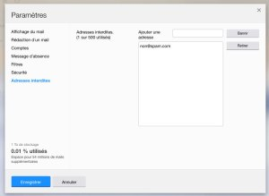 bloquer une adresse email sous yahoo