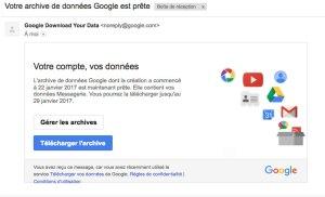 Télécharger les archives google