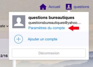 Paramètres de compte Yahoo
