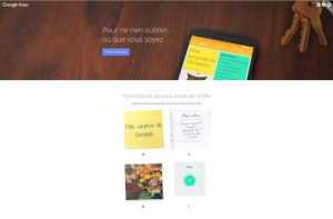 Création de notes avec Google Keep