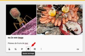 Importer plusieurs images dans une note Keep.