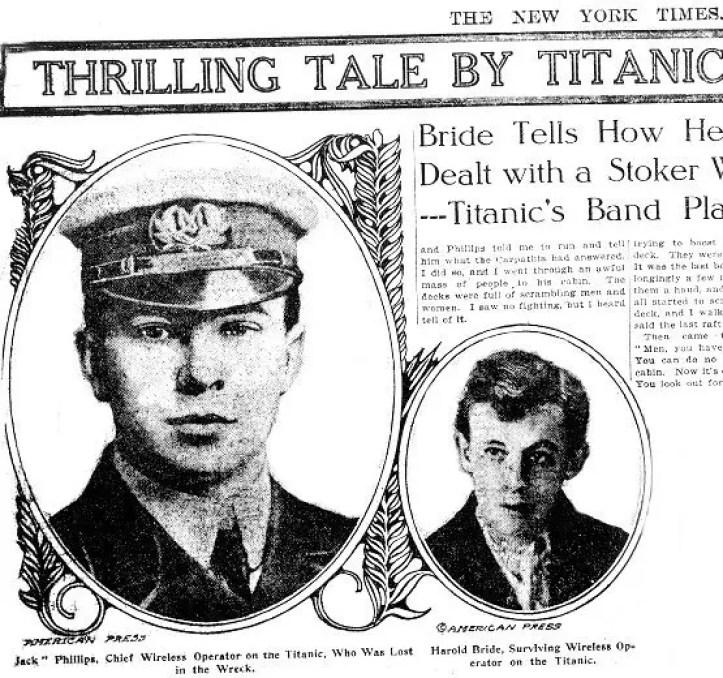 Resultado de imagen para Harold Bride titanic
