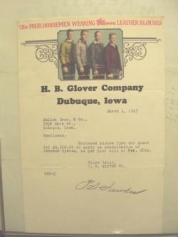 H B GLOVER COMPANY Encyclopedia Dubuque