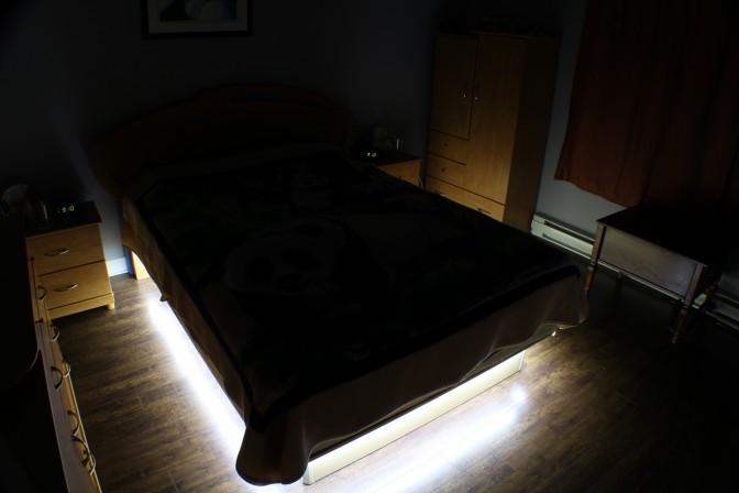 DIY Bricoler soimme un clairage au LED sous le lit de la chambre  coucher  end2end zone