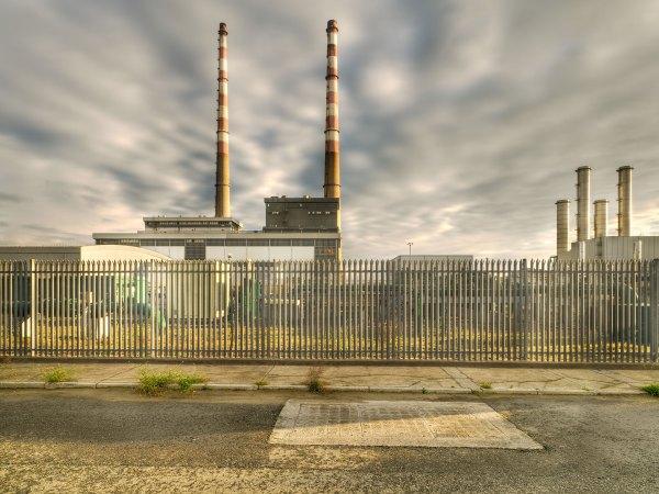 Industrial Fine Art Poolbeg Power Station Chimneys