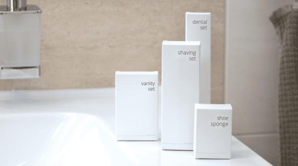 White hotel accessories cosmetics
