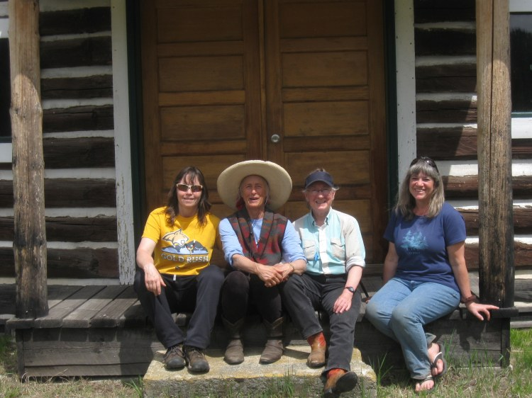 L to R. Kisa Brown, Yours truly, Jean Nemeth, and Sandra Jirasko at Bend Guard Station