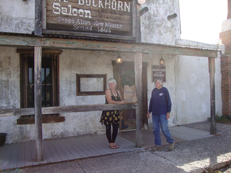 Susan Dent and Rosie out side the Buckhorn Saloon