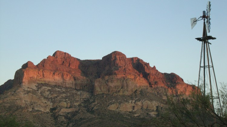 Mount Picketpost, east of Apache Junction, AZ.