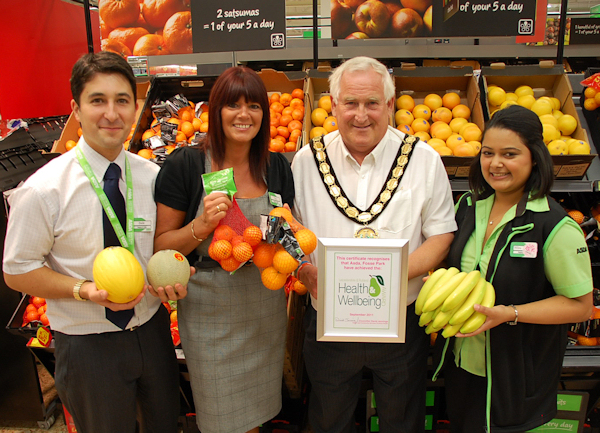 Receiving Wellbeing Award at ASDA Fosse Park