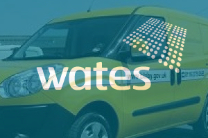 Graphic: Wates logo Blaby Council Van