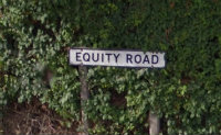 equity road sign