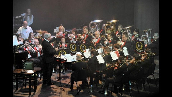 The Band on stage at Curve [Photo: Enderby Band]