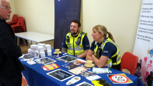neighbourhood police at library