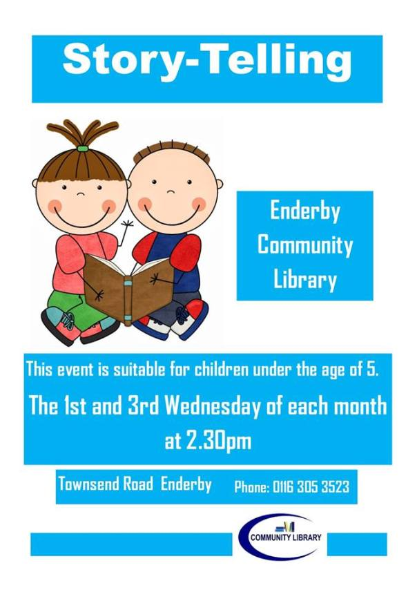 Story-telling at Enderby Community Library