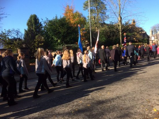 Remembrance Day procession