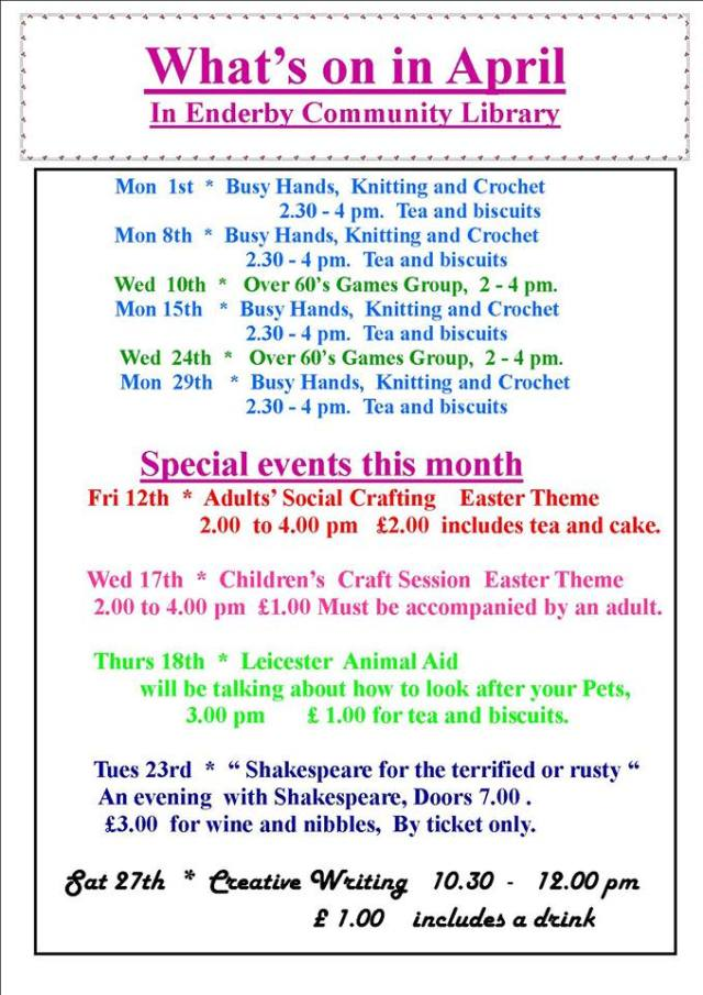 Library April Events