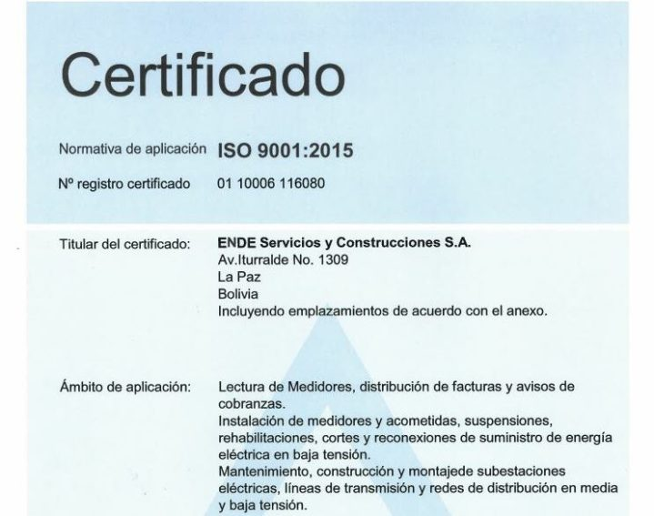 Certificación ISO 9001 – Comercial