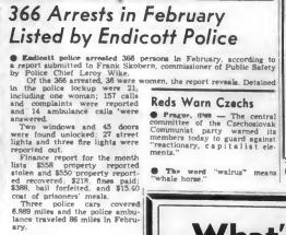 endicott police 366 arrests 1949 - About