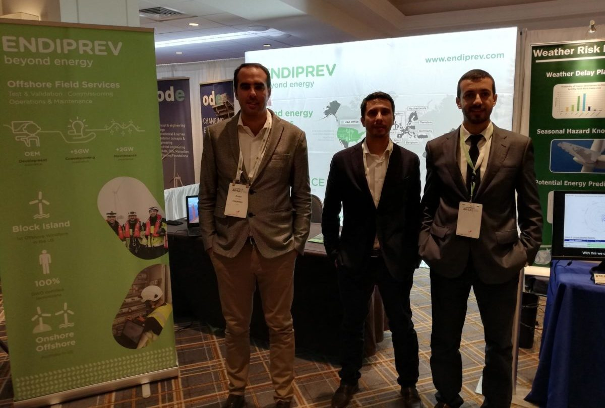 Endiprev's team at the AWEA Offshore WINDPOWER 2019 Conference