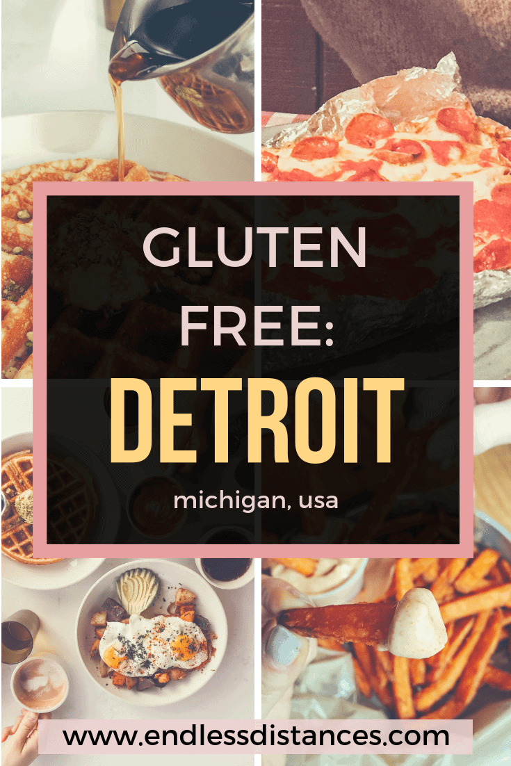 Check out this list of the best gluten free Detroit restaurants with safe cross contamination procedures! From gluten free pancakes to pizza to waffles. #glutenfreedetroit #detroit #detroitmichigan #glutenfreetravel #puremichigan