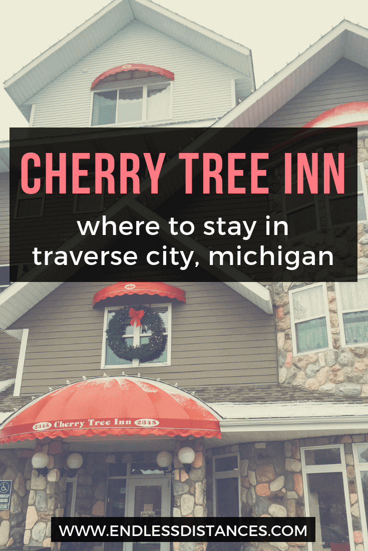 Cherry Tree Inn Traverse City MI is one of a selection of lake front properties. Read our review of our winter stay at Cherry Tree Inn! #traversecity #tcmi #michigan #puremichigan #cherrytreeinn