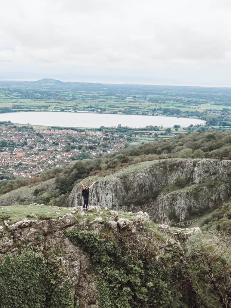A visit to Cheddar Gorge in Somerset, England is the perfect time to get outdoors. Enjoy stunning panoramic views on these 11 Cheddar Gorge walks. #cheddargorgewalks #walksincheddargorge #somerset #mendiphills #cheddargorge #thingstodoincheddargorge