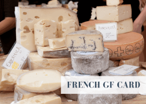 Gluten free translation card - French