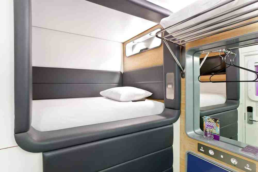 YotelAir London Heathrow is a convenient and unique hotel in terminal 4. We slept in the coolest Heathrow sleeping pods and this is the full review. #yotelair #yotel #airporthotel #londonheathrowhotel #wheretostayatheathrow #yotelairlondonheathrow