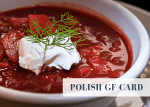 Polish gluten free travel card