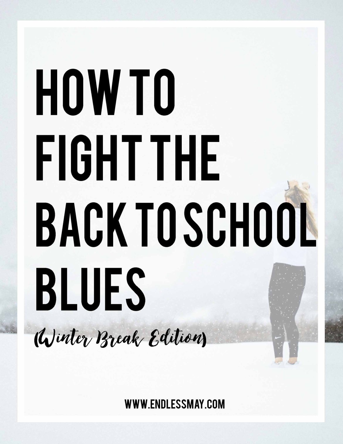 Heading back to school after winter break can sometimes make you blue! Here are ways to make going back easier.