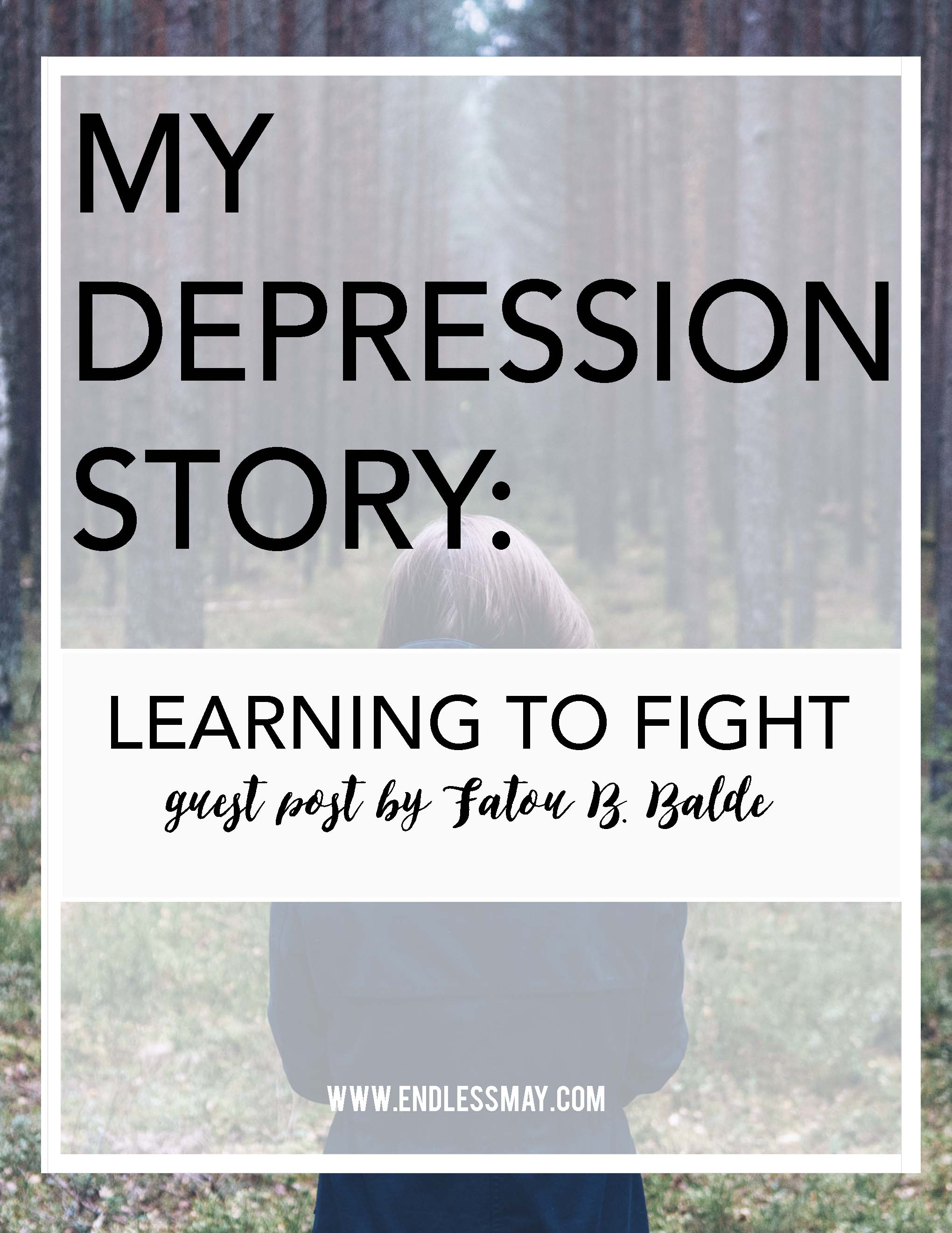 Dealing with depression in college is incredibly difficult. In this guest post, Fatou Balde shares her experiences with depression in order to bring awareness to other people.