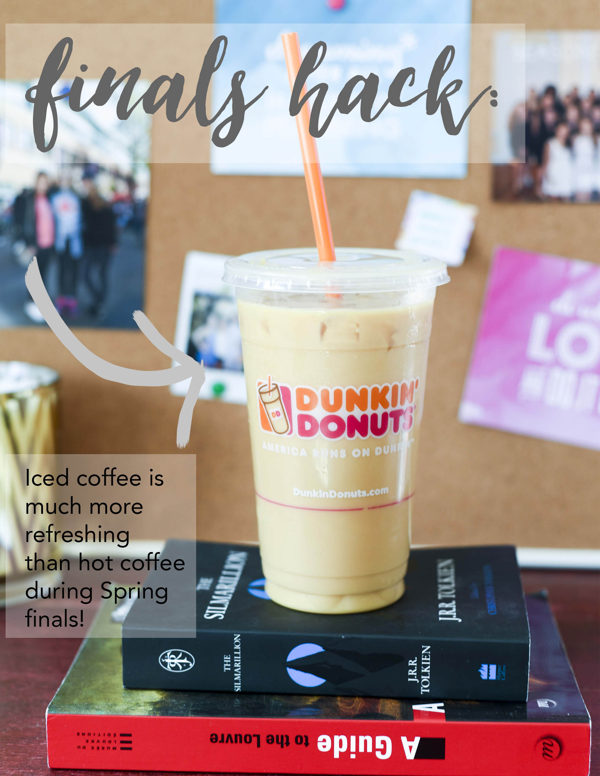 @DunkinDonuts #icedcoffee is the perfect addition to your final study plans! Final exams run on #dunkindonuts #sponsored