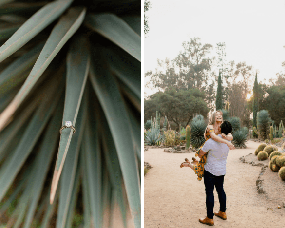 Desert-inspired Palo Alto Engagement session, Arizona Cactus Garden   © Shannon May Brown