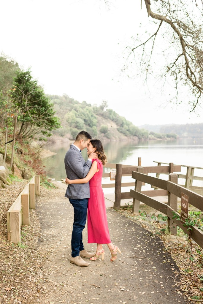 Susanna + Chris's Northern California engagement session at Lake Chabot