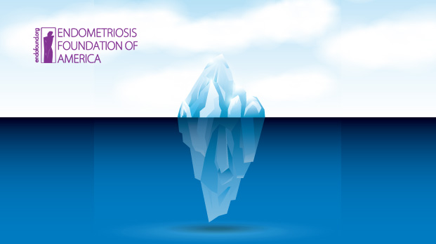 An endometriosis lesion is like an iceberg, most of the disease lies implanted underneath the surface tissue. Deep-excision surgery removes these lesion in their entirety, including the tissue underneath the surface.