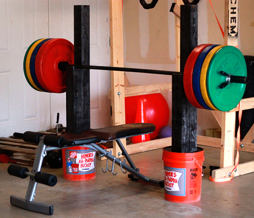 Diy Fitness Equipment Cleaner: Homemade Squat And Bench Press Stand