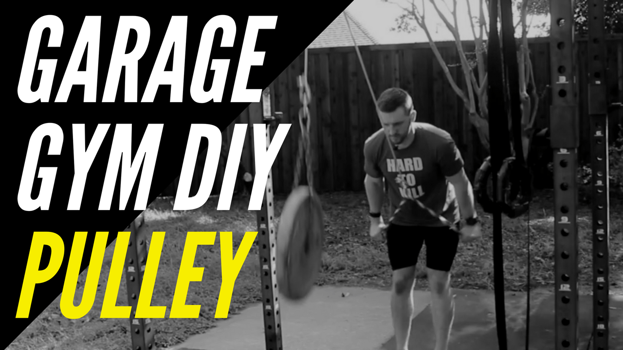 How to build a garage gym diy pulley system tricep lat